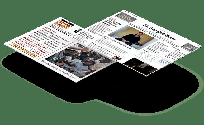 Website Design - 20 year challenge - New York Times