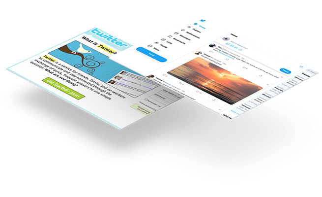 Website Design - 20 year challenge - Twitter