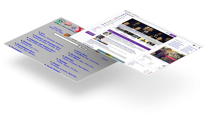 Website Design - 20 year challenge - Yahoo