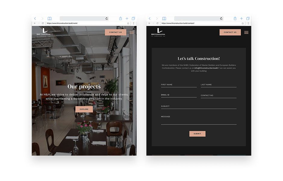 HH Construction - WordPress developer Case Study