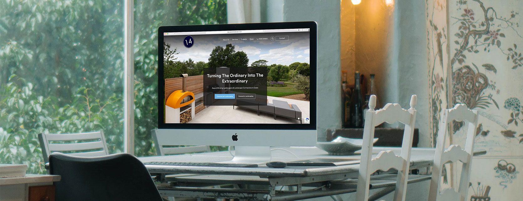 Planet 14 Landscapes - Web Design Case Study